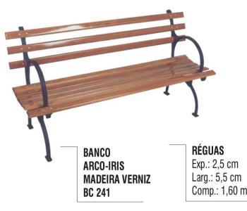 Banco Arco-Íris Madeira Verniz