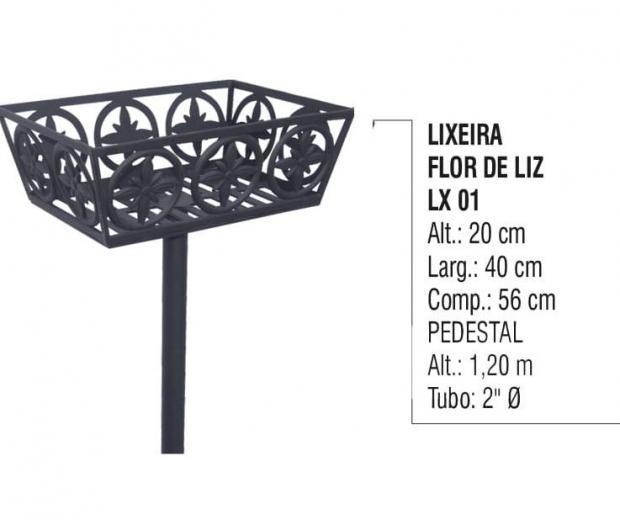 Lixeira Flor de Liz