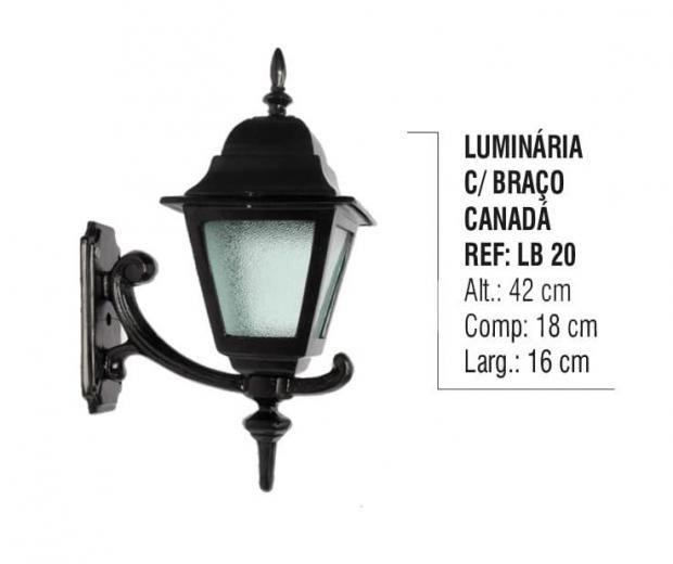 Luminária com Braço Canadá