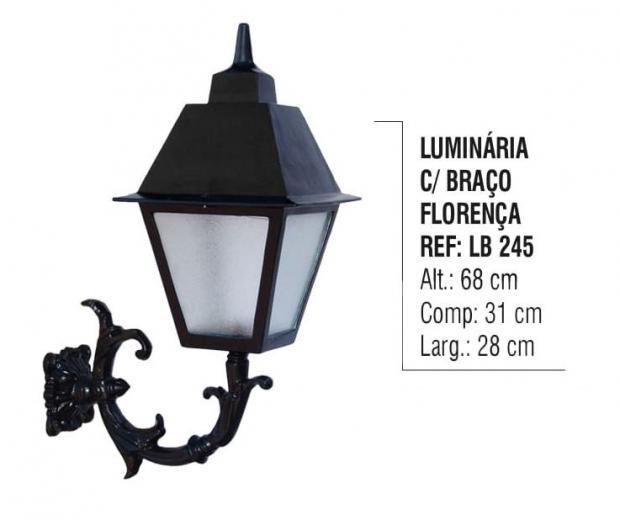 Luminária com Braço Florença