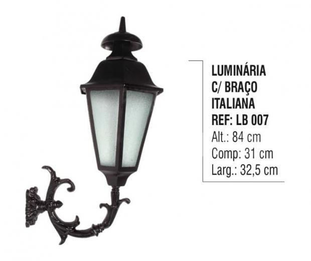 Luminária com Braço Italiana