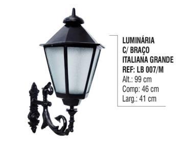 Luminária com Braço Italiana Grande