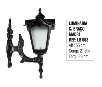 Luminária com Braço Madri