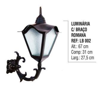 Luminária com Braço Romana