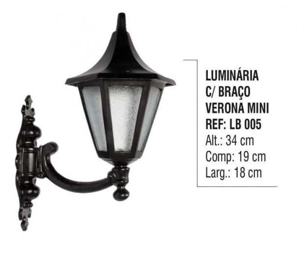Luminária com Braço Verona Mini