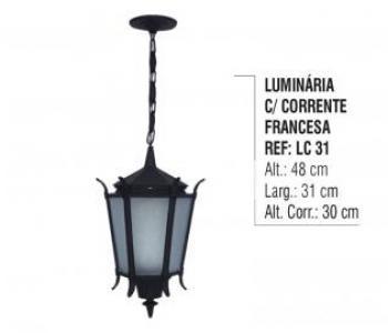 Luminária com Corrente Francesa