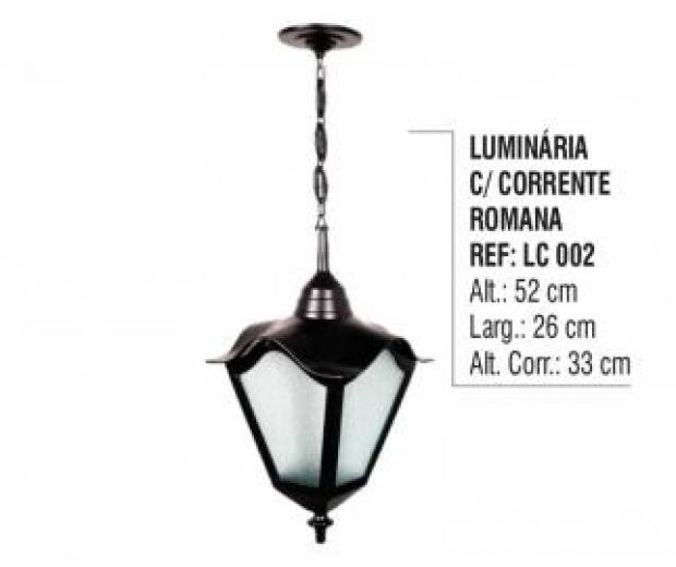 Luminária com Corrente Romana