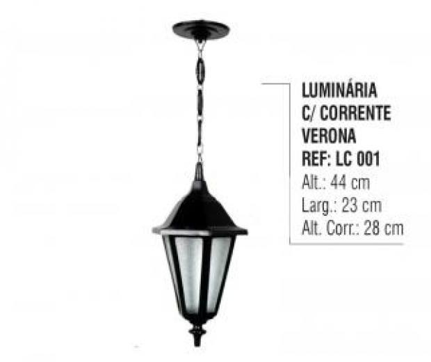 Luminária com Corrente Verona