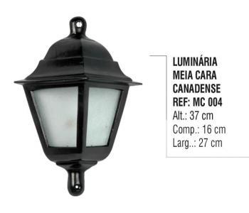 Luminária Meia Cara Canadense