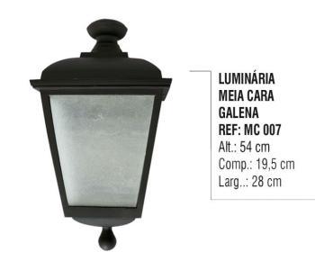Luminária Meia Cara Galena