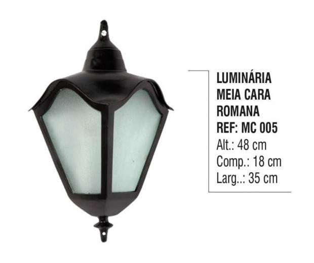 Luminária Meia Cara Romana