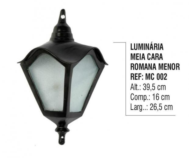 Luminária Meia Cara Romana Menor