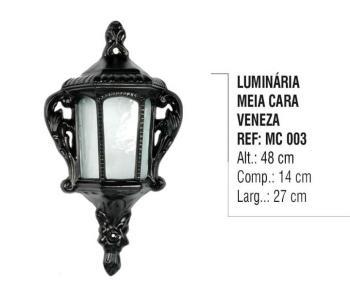 Luminária Meia Cara Veneza