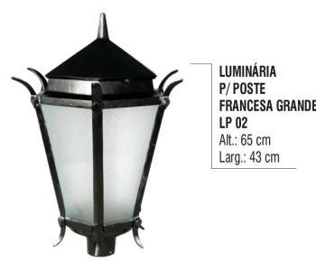 Luminária para Postes Francesa Grande