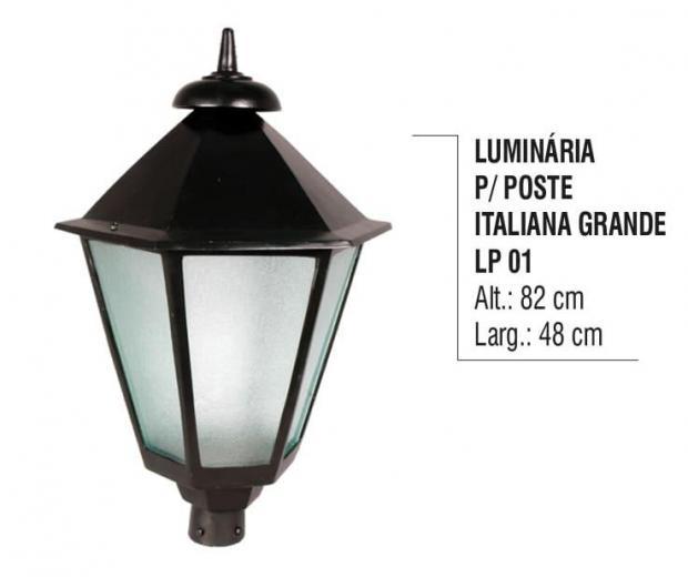 Luminária para Postes Italiana Grande