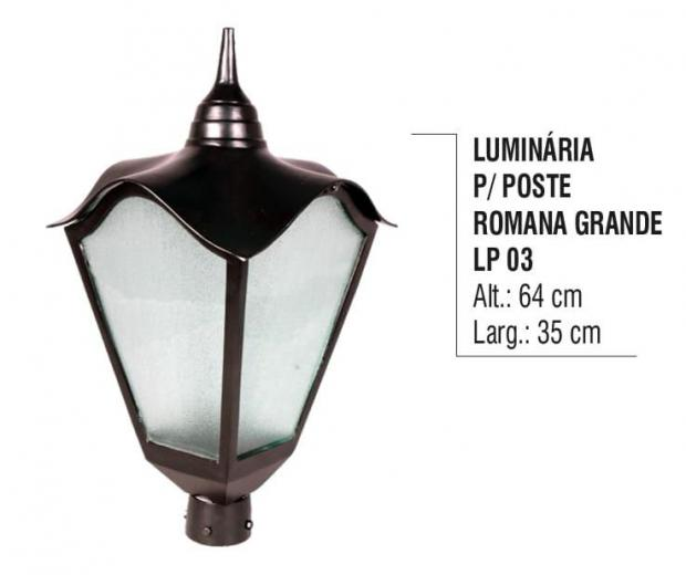 Luminária para Postes Romana Grande