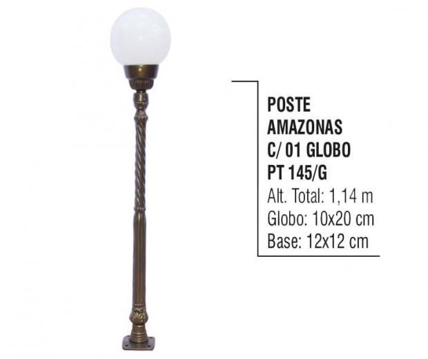 Postes Amazonas com 01 Globo