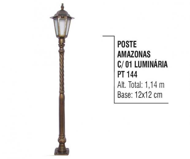 Postes Amazonas com 01 Luminária