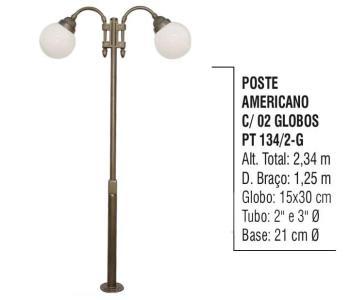 Postes Americano com 02 Globos