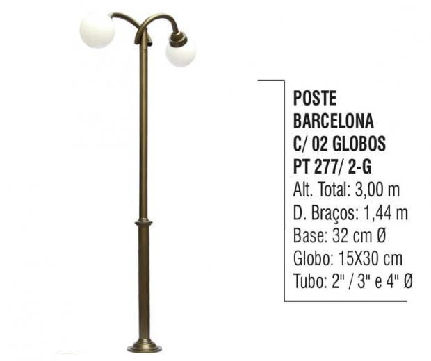 Postes Barcelona com 02 Globos