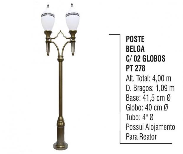 Postes Belga com 02 Globos