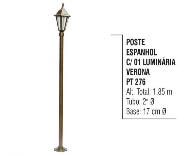 Postes Espanhol com 01 Luminária Verona