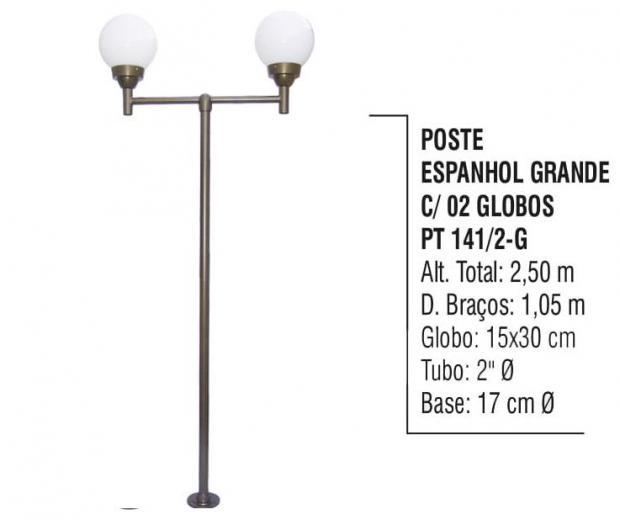 Postes Espanhol Grande com 02 Globos