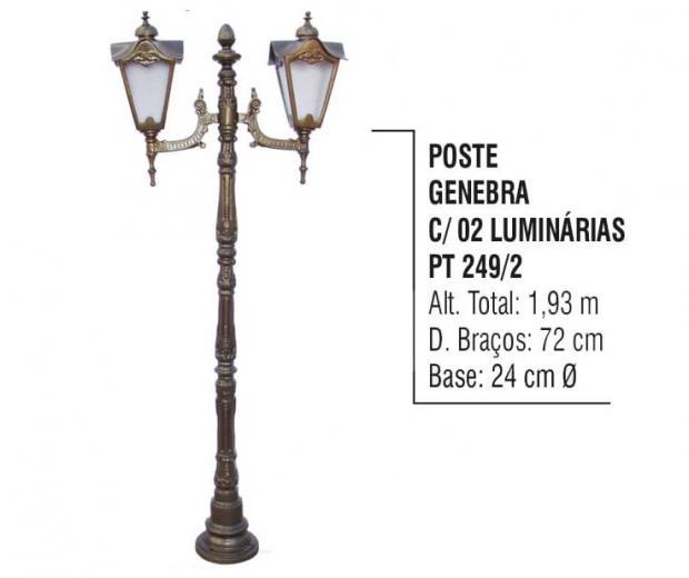 Postes Genebra com 02 Luminárias