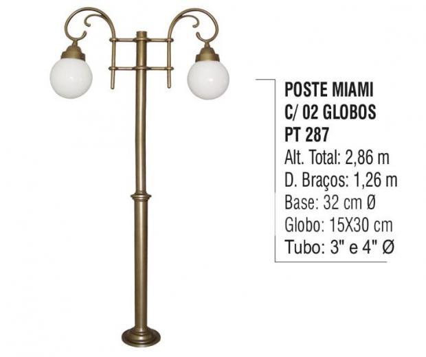Postes Miami com 02 Globos