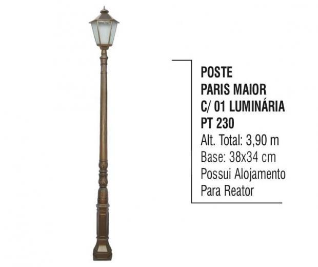Postes Paris Maior Com 01 Luminária