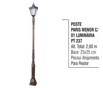 Postes Paris Menor com 01 Luminária