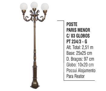 Postes Paris Menor com 03 Globos