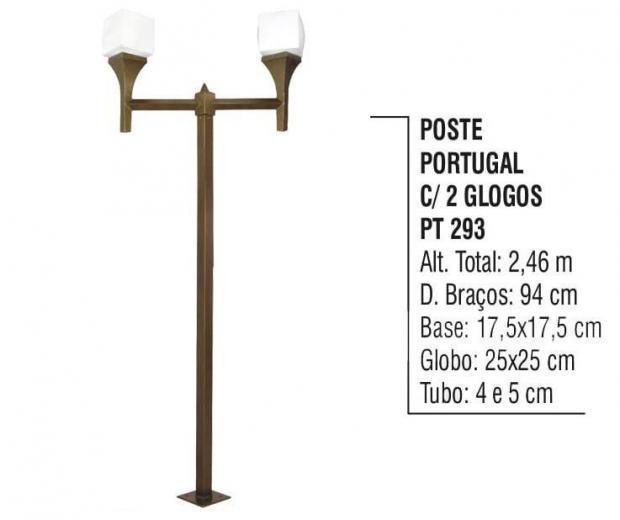 Postes Portugal com 02 Globos