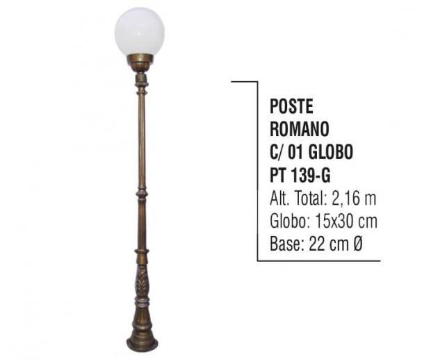 Postes Romano com 01 Globo