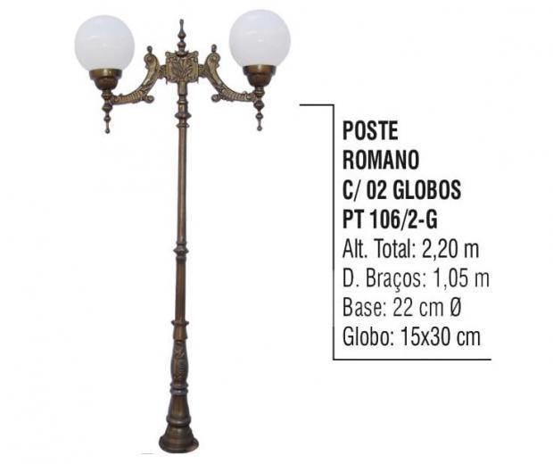 Postes Romano com 02 Globos