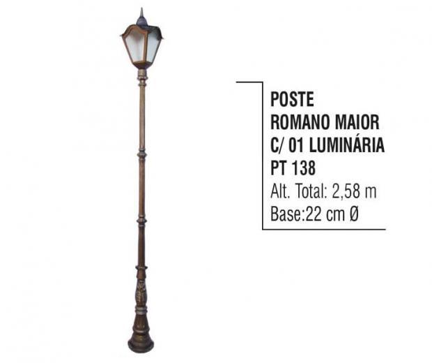 Postes Romano Maior com 01 Luminária
