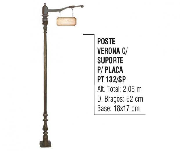 Postes Verona com Suporte para Placa